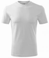 Tričko Heavy 200 bavlna kvalitný bavlnený materiál okrúhly priekrčník biele