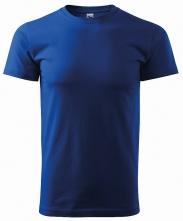 Tričko Basic 160 bavlnené okrúhly výstrih stredne modré