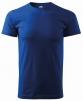 Tričko MALFINY Basic 160 bavlnené bezšvový strih trupu guľatý priekrčník silikónová úprava stredne modré