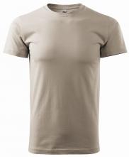 Tričko Basic 160 bavlna okrúhly výstrih bavlna silikónová úprava ľadovo sivé