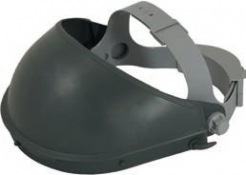 Držiak štítu kulen hlavový k zorníkům FH66 ochrana čela potný pásik nastaviteľný sivý