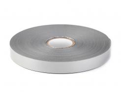 Páska reflexná pruh šírka 50 mm určená na našitie strieborná