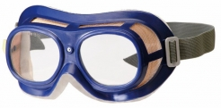 Okuliare B-B 19 uzavreté s gumičkou modré polykarbonátové číre
