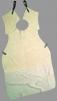 Kožená zváračská zástera delená 104x90 cm s golierom hovädzia štiepenka sivá