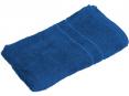 Uterák bavlnený froté 50x100 cm jednofarebný stredne modrý