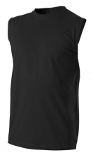 Tričko BERU 160 bez rukávov bavlna obšitý okrúhly priekrčník a otvory na ruky čierne