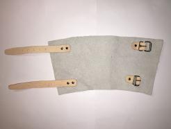 Chránič zápästia kožený 2 pásiky spony 15 cm