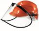 Ochranný tvárový štít UVEX 540 x 195 mm vrátane držiaka na prilbu (bez prilby) dielektrický nezahmlievajúci sa číry