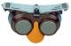 Okuliare B-B 39 gumička sivé zváračské priezory