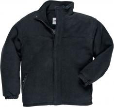 Mikina PW YUKON fleece prešívaná zateplená vrecká pri páse zapínanie na zips čierna