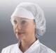 Jednorazová čiapka so štítom SHIELD sieťka na vlasy gumičky po okraji biela