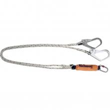 Úchytné lano DELTA NoShock s tlmičom a karabínou rozdvojené a opatrené hákovými karabínami dĺžka 2 m