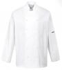 Rondón PW NORWICH Chefs 100% bavlna dlhý rukáv odvetrané podpazušie dvojradový s gombíkmi biely
