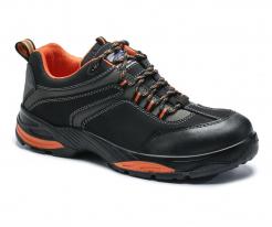 Obuv PW Compositelite Operis S3 HRO športová poltopánka PU/guma oranžové doplnky sivo/čierna