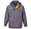 Bunda PW TEXO Contrast Rain PES/PVC kapucňa nepremokavá zateplená reflexné prvky sivá