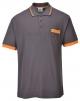 Polokošeľa PW Texo Contrast s krátkym rukávom materiál polyester/bavlna barva šedo/oranžová