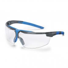 Okuliare UVEX i-3 Supravision Sapphire stráničky antracit/modré obojstranne odolné proti poškriabaniu číre