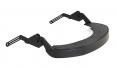 Držiak štítu Hellberg EPOK SAFE2 Flex nylonový vrátane tesnenia na prilbu so šikmým šiltom čierny
