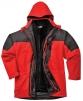 Bunda AVIEMORE 3v1 vodoodolná s odopínacou vložkou červeno/čierna veľkosť L