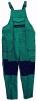 Montérkové nohavice OC s náprsenkou a trakmi zeleno/čierne veľkosť 58
