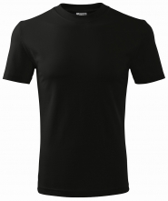 Tričko Classic 160 bavlna okrúhly priekrčník trup bez švov čierne