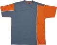 Tričko Mach 2 krátky rukáv oranžovo/sivé veľkosť L