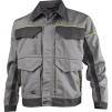 Montérková blúza DELTA Mach Corporate košeľový golier kontrastne obšívanie svetlo šedá/tmavo šedá