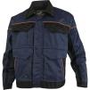 Montérková blúza DELTA Mach Corporate košeľový golier kontrastne obšívanie tmavo modro/čierna