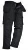 Montérkové nohavice PW SLATE do pása PES/BA 300g mechové montážne vrecká čierne