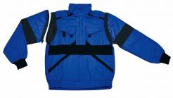 Montérková blúza CXS luxy EDA s odopínateľnými rukávmi tmavomodro/čierna