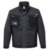 Montérková blúza PW WX3 PES/BA 280g krytý zips vrecká na prsiach a pri páse na zips šedo/čierna