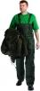 Nohavice TITAN s náprsenkou zateplené pružné traky zelené veľkosť XXL