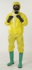 Kombinéza JETGUARD 3B kapucňa pružný pás lepiacej léga cez zips Typ 3,4,5 žltá