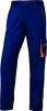 Montérkové nohavice DELTA PLUS MACH 6 Panostyle do pása PES/bavlna rovný strih pútka na opasok modro/červene
