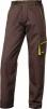 Montérkové nohavice DELTA PLUS MACH 6 Panostyle do pása PES/bavlna rovný strih pútka na opasok hnedo/zelené