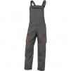 Montérkové nohavice DELTA MACH 2 NEW s náprsenkou vrátane vrecka PES/BA zosilnené kolená ploché vrecká sivo/oranžové