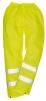 Nohavice Hi-Vis materiál polyester laminovaný PVC výstražná žltá veľkosť XL