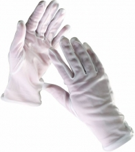 Rukavice CERVA KITE päťprsté úplet BA/PES voľná manžeta biele