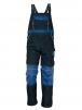 Montérkové nohavice STANMORE s náprsenkou tmavomodré/svetlomodré veľkosť 54