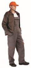 Montérkové nohavice DESMAN WINTER náprsenkové zateplené sivo/oranžové veľkosť 58