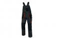 Montérkové nohavice CERVA EMERTON s trakmi PES/BA zosilnené kolená množstvo vreciek čierno/šedo/oranžové