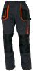 Montérkové nohavice CERVA EMERTON do pása PES/BA zosilnené kolená mechové vrecká čierno/sivo/oranžové