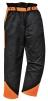 Nohavice OAK do pása na prácu s motorovou pílou čierno/oranžové veľkosť XL