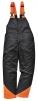 Nohavice OAK s náprsenkou na prácu s motorovou pílou čierno/oranžové veľkosť XL