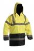 Bunda SEFTON zateplená reflexná výstražná žltá/modrá veľkosť XL
