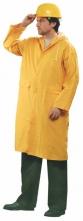 Plášť Cerva CETUS s kapucňou PES/PVC raglánové rukávy trojštvrťový vodeodolný žltý