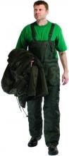 Nohavice TITAN s náprsenkou zateplené pružné traky zelené veľkosť XL