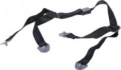 Podbradná pásik ENDURANCE Clip-on 4-bodový pre prilby ENDURANCE a PROTECTOR nastaviteľný čierny