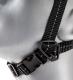 Podbradný textilný 4 bodový pások pre ochrannú prilbu E-MAN, C6, E6, RANGER nastaviteľný zapínacia spona čierny