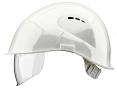 Prilba VOSS VISOR LIGHT krátky šilt predĺženie do tyla bočná ventilácia integrovaný očný priezor biela